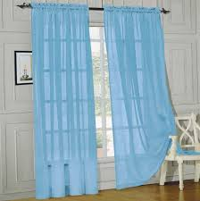Amazon Curtain Rods Long by Amazon Com Elegance Linen Window Curtain Sheer Panel With Rod