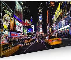 bild bilder auf leinwand times square new york city 1p