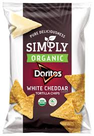 Simply Organic DORITOSR White Cheddar Flavored Tortilla Chips