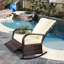 SCYL Color Your Life Indoor & Outdoor PE Wicker Rocking Chair Porch ... Hampton Bay Spring Haven Brown Allweather Wicker Outdoor Patio Noble House Amaya Dark Swivel Lounge Chair With Outsunny Rattan Rocking Recliner Tortuga Portside Plantation Wickercom Wilson Fisher Resin Recling Ideas Fniture Unique Clearance 1103design Chairs S Rocker High Indoor Lounger Alcott Hill Yara Cushions In 2019 Longboat Key At Home Buy Cheap Online Sale Aus