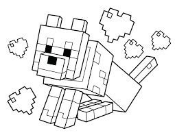 Coloring Pages Free Printable Minecraft Tnt