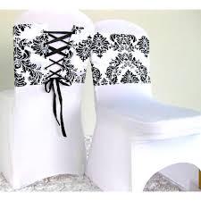 ruban pour noeud de chaise noeud de chaise mariage corset baroque noir et blanc x 10 un