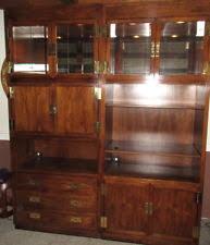 Henredon Walnut China Cabinet by Henredon Scene Furniture Ebay