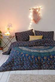 thinking blue medallion comforter urban outfitters