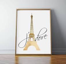 Paris Art Eiffel Tower Decor Bedroom Wall French