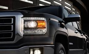2014 GMC Sierra Has New Halogen Projector Headlights. | 2014 GMC ... 2014 Gmc Sierra Front View Comparison Road Reality Review 1500 4wd Crew Cab Slt Ebay Motors Blog Denali Top Speed Used 1435 At Landers Ford Pressroom United States 2500hd V6 Delivers 24 Mpg Highway Heatcooled Leather Touchscreen Chevrolet Silverado And 62l V8 Rated For 420 Hp Longterm Arrival Motor Lifted All Terrain 4x4 Truck Sale First Test Trend Pictures Information Specs