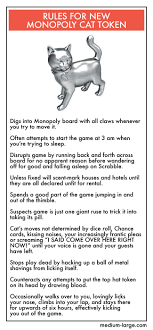 Rules For The New Monopoly Cat Token