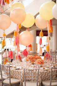 Giant balloons with tassel garlands beautiful