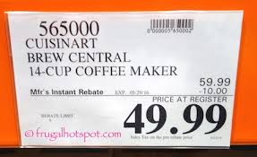 Cuisinart Brew Central 14 Cup Coffee Maker Costco Price