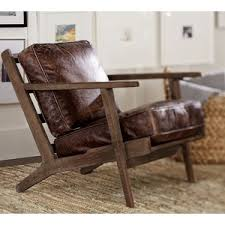 Pottery Barn Raylan Leather Armchair Polyvore