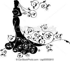 Bride Wedding Silhouette Design