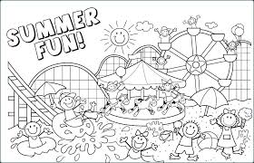 Summer Coloring Page Sheets For Kids Awesome Pages Fun Camp Printable