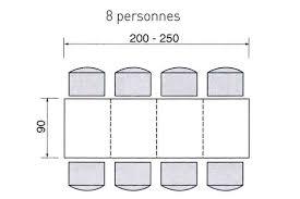 dimensions d une table pour 2 4 6 ou de personnes 4 pieds