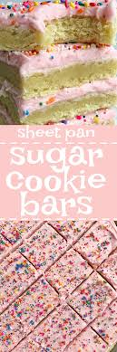 cookie sheet} Sugar Cookie Bars To her as Family