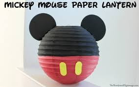 Mickey Mouse Paper Lantern DIY
