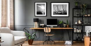 das arbeitszimmer einrichten mit bilderrahmen photolini