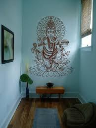 Ik430 Wall Decal Sticker Room Decor Art Mural Indian God Om Elephant Hindu Success Buddha