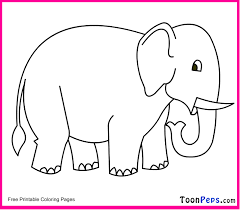 Elephant Ears Coloring Pages Free Of