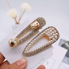 100 Pearl Design Hair Clip Elegant Korean Snap Barrette Stick