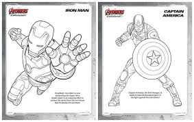 Awesome Free Marvels The Avengers Cartoon Coloring Books For Kids 1