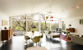 Austin White Marble Dining Table Living Room Midcentury With Great Ceiling Fans Vaulted Ceilings