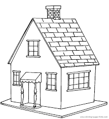 House Color Page Free Coloring Pages