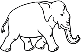Elephant Coloring Pages For Kids 2