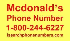 Mcdonald s phone number