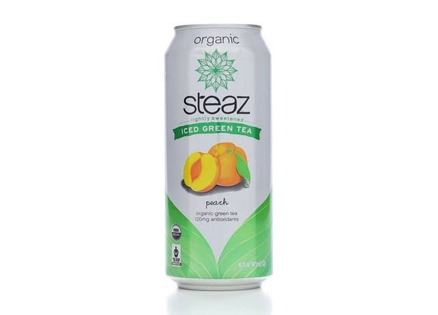 Steaz Energy Organic Iced Green Tea - Peach