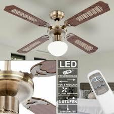 details zu led decken ventilator raum wind lüfter mit beleuchtung fernbedienung deckenle