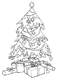 Free Coloring Christmas Tree