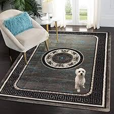 siela teppich wohnzimmer türkis kurzflor teppich teppiche für schlafzimmer küche läufer flur modern deko esszimmer hochwertig 80 x 150 cm