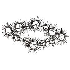 Brutalist Nail Wall Art Mid Century Modern Vintage Sunburst Starburst Metal For Sale