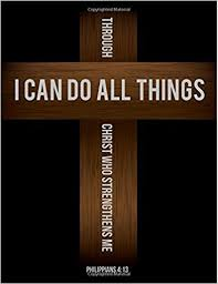 Philippians 413 I Can Do All Things Through Christ Who Strengthens Me Cross Notebook Journal 85 X 11 Large Composition Joy Tree Journals