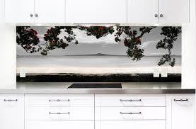 Kohi Paradise Printed Image On Glass Kitchen Splashback