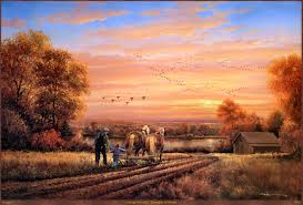 Swans Pumpkin Farm Milwaukee by Thoughts Of Home By George Kovach Fall Farm Field Horses