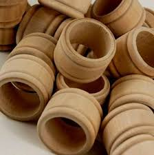 25 Wooden Unfinished Napkin Rings Pieces 10 These Would Be Easy To