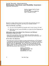 Social Security Benefits Letter