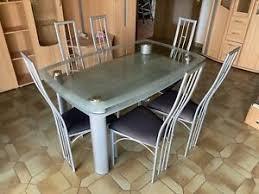 glastisch 6 stühle möbel gebraucht kaufen ebay kleinanzeigen