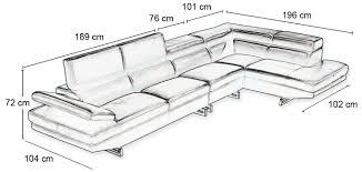 taille canapé taille canape intérieur déco