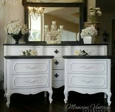 French Provincial Glam Boudoir Bedroom Set Black And White Hollywood Paris On Etsy