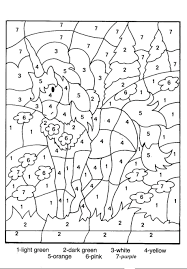 Coloring Pages Free Printable Color Number By For Adults Kindergarten Toddlers