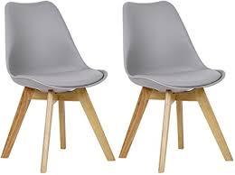 woltu bh29gr 2 2 x esszimmerstühle 2er set esszimmerstuhl design stuhl küchenstuhl holz grau