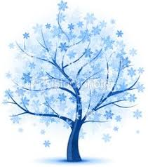 snowflake tree clipart