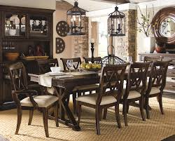 9 Piece Dining Set With X Back Chairs By Legacy Classic ...