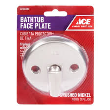 Bathtub Overflow Plate Adapter Bar by Ace Waste And Overflow Plate With Trip Lever Bath Drains