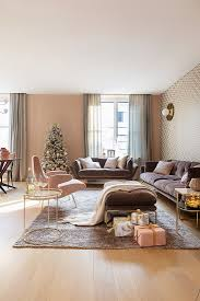 living room decorated in pink buy image