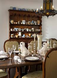 Shabby Chic Dining Room Hutch by Dining Room Hutch Ideas Christmas Lights Decoration