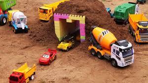 100 Dump Trucks Videos Construction Videos For Kids Build Tunnel For Children Excavator