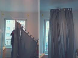 No Drill Curtain Rods Ikea by How To Hang A Curtain Rod Without Brackets Home Decor Curtains